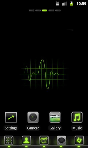 HiTech Green Theme Go Launcher v1.2