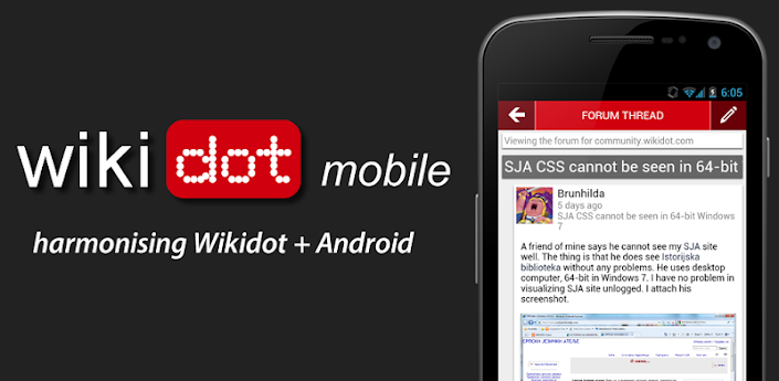 Wikidot mobile app for Android - by Tsangk - Wikidot com blog