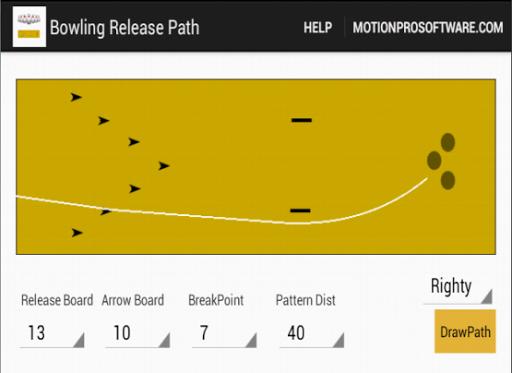 【免費運動App】Bowling Release Path MotionPro-APP點子
