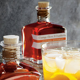 Orange-, Clove-, and Cranberry-Infused Bourbon.