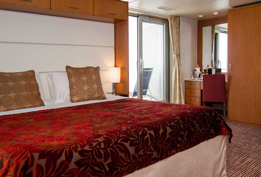 Celebrity_Xpedition_stateroom - After a rugged shore excursion, relax in your contemporary suite aboard Celebrity Xpedition.