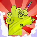 Llama Unicorn vs Rainbow World