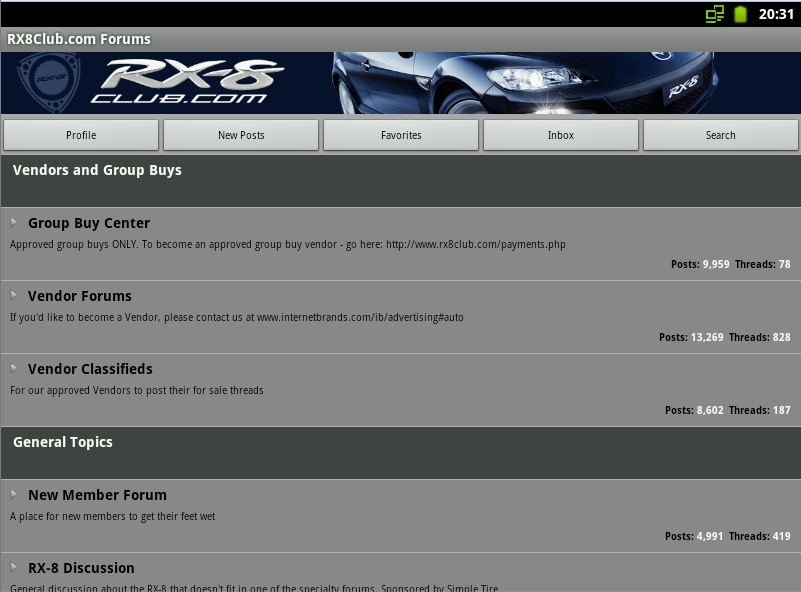 RX8Club.com Forum *BETA* - screenshot