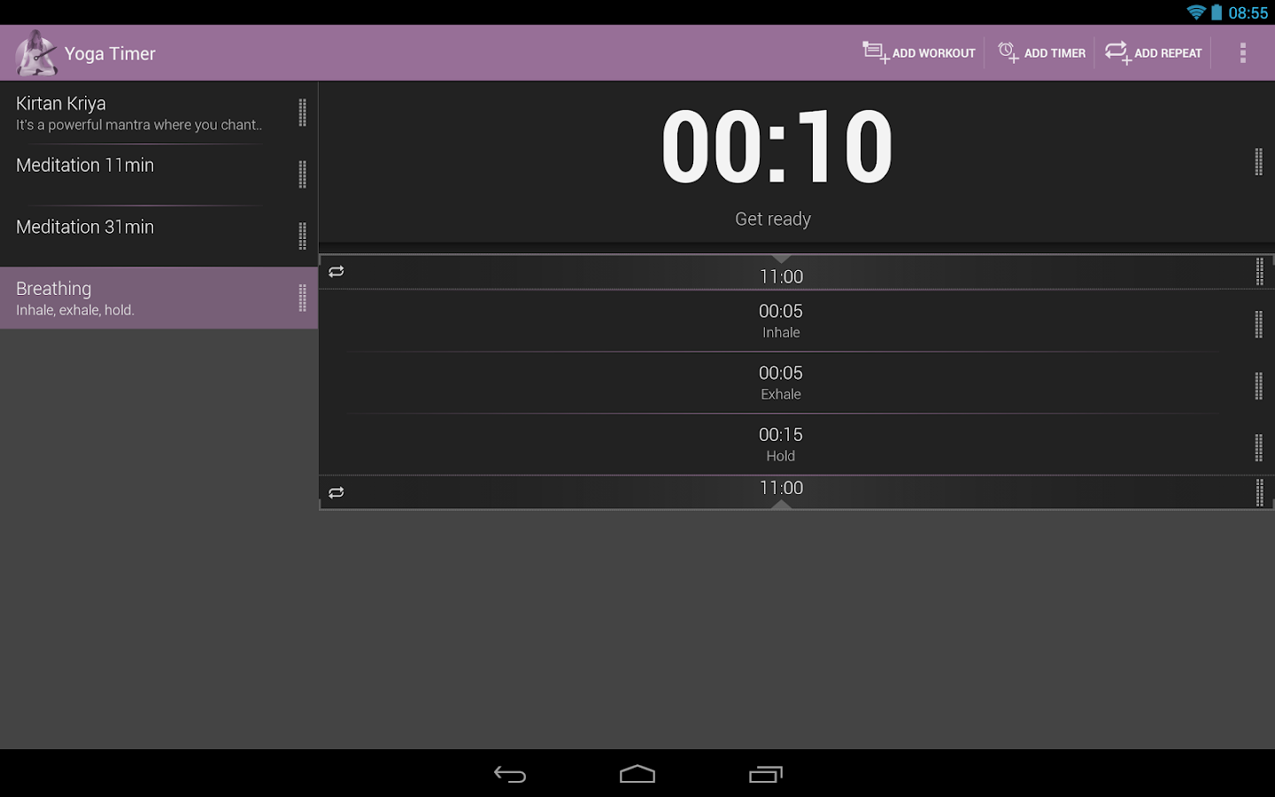 Yoga Timer - screenshot