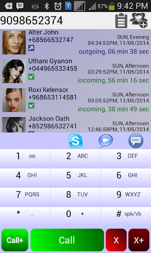 Dexo Rot Dialer Contacts