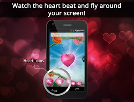 Screenshot of UR 3D Love Heart Live Theme