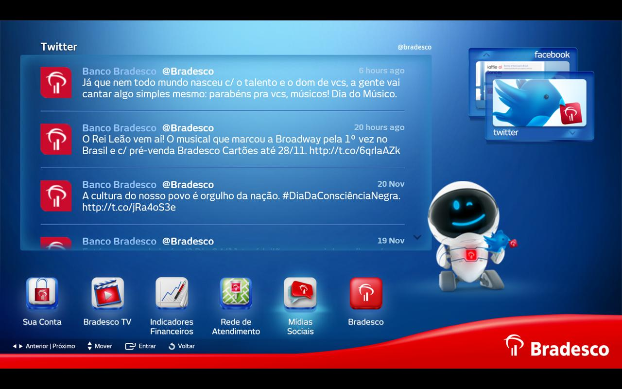 Bradesco para Google TV- screenshot