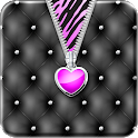Purple♥Heart Zipper♥Lockscreen icon