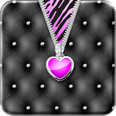 Purple♥Heart Zipper♥Lockscreen