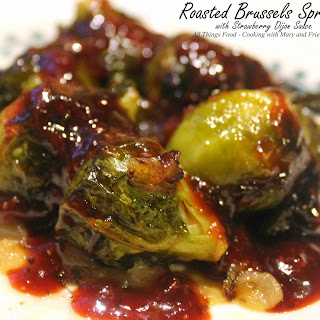 Roasted Brussels Sprouts with Strawberry Dijon Sauce