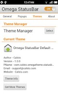 Screenshot of Omega StatusBar