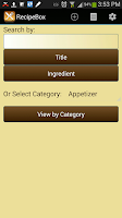 Screenshot of Recipe Box
