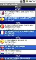 Screenshot of 2015 Moto Calendar