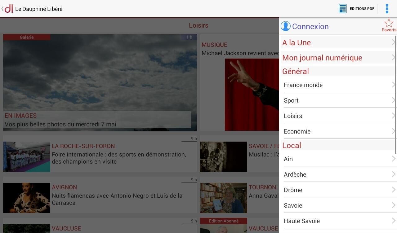 Le Dauphiné Libéré - screenshot