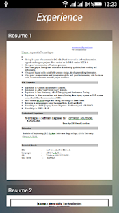 download a resume format