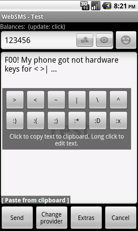 Missing Keys- screenshot