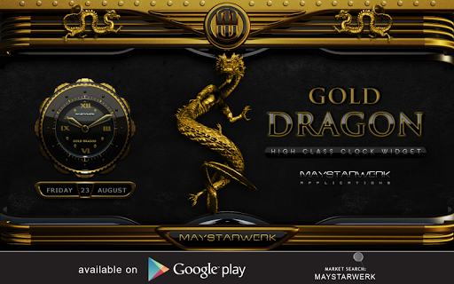 لالروبوت NEXT theme dragon gold تطبيقات screenshot