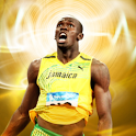 Athletic Superman Usain Bolt icon