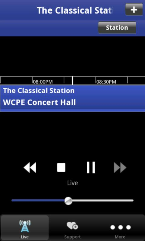 WCPE Public Radio App- screenshot