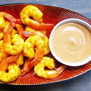 Ginger Shrimp & Peanut Sauce