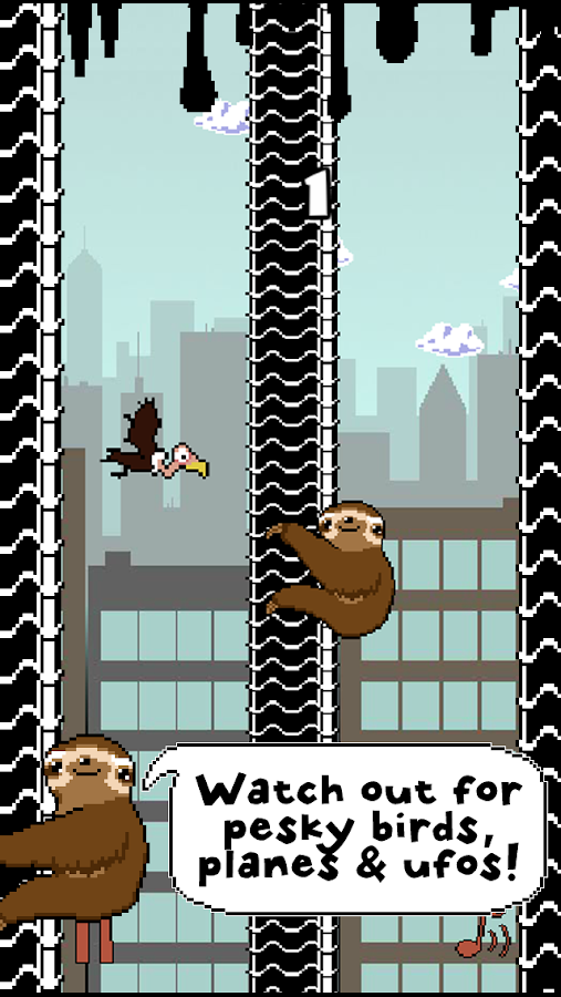 Slippy Sloth - Climbing Game - screenshot