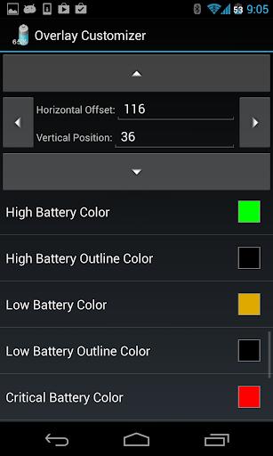 Battery Overlay Percent Key