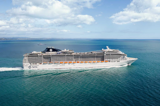 MSC-Divina-at-sea-2 - MSC Divina guests can look forward to attentive service, a large variety of leisure facilities and world-class entertainment to ensure that you have a memorable vacation aboard.