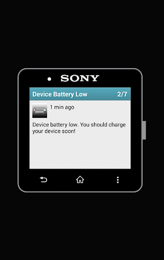SmartWatch 2 Battery Notifier