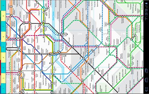 倫敦地鐵地圖