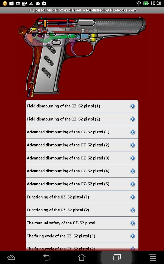 CZ-52 pistol explained- screenshot