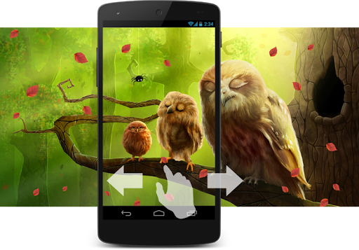 Eulen Wald Live Wallpaper screenshot