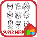 Hero simple face dodol theme icon
