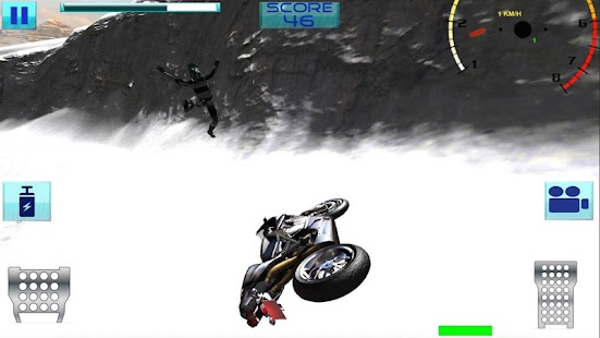 Super Moto Bike Rider On Snow- screenshot thumbnail
