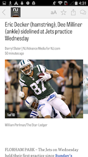 NJ.com: New York Jets News- screenshot thumbnail