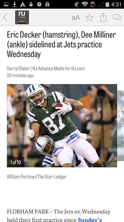 NJ.com: New York Jets News- screenshot