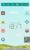 Screenshot of Drive Safe LINE Launcher theme