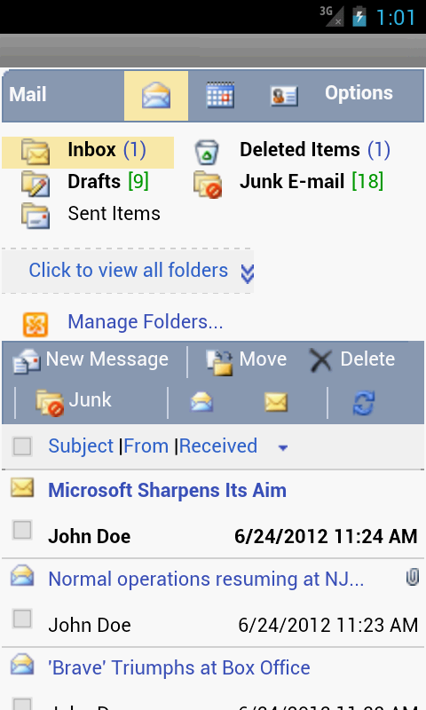 OWM for Outlook OWA Web Email - screenshot