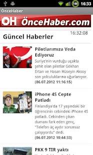 ÖnceHaber- screenshot thumbnail