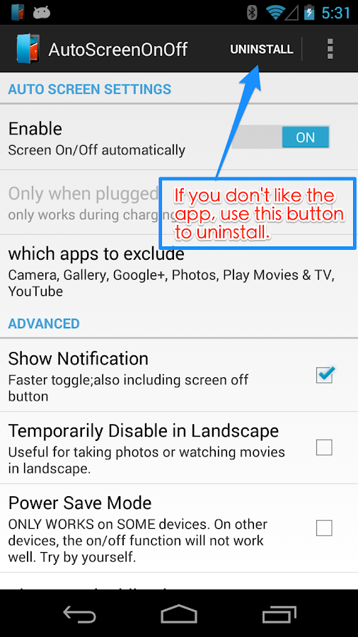 Auto Screen On Off(Smart Cover- screenshot