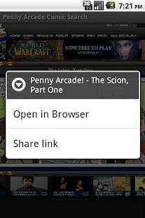 Penny Arcade Comic Search- screenshot thumbnail
