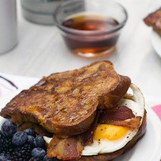 Autumn French Toast Egg Sandwich.