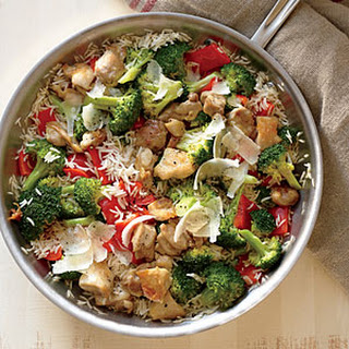 Chicken, Rice, and Parmesan Skillet