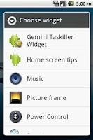 Screenshot of Gemini Taskiller Widget