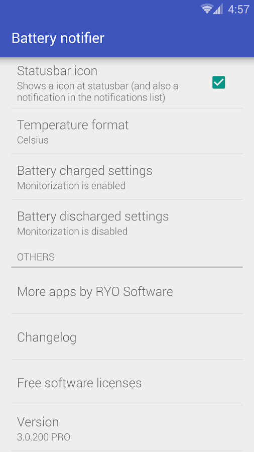 Battery notifier - Reborn- screenshot