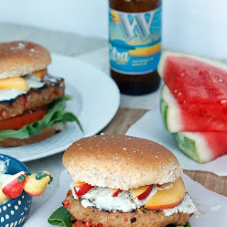 Hot and Sweet Turkey Burger with Whipped Blue Cheese