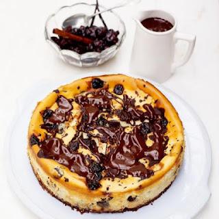 The Best Cherry & Chocolate Cheesecake