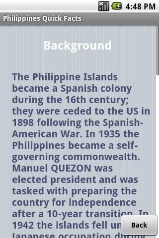 Philippines Quick Facts- screenshot