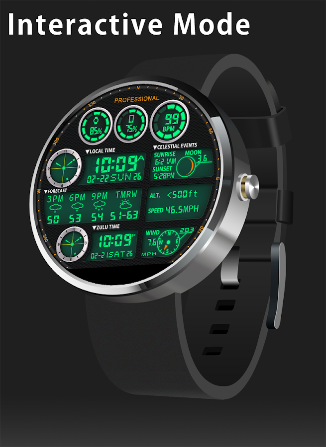 F05 WatchFace for Moto 360- screenshot