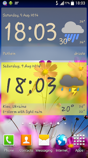 玩免費天氣APP|下載Weather ACE Clock Widget Pack app不用錢|硬是要APP