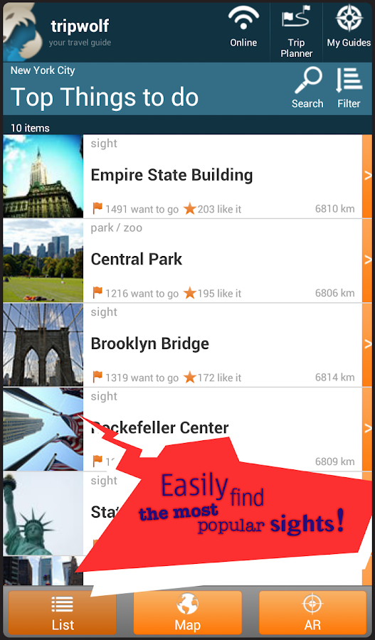 tripwolf - Your Travel Guide - screenshot